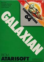 Galaxian Commodore 64 portada