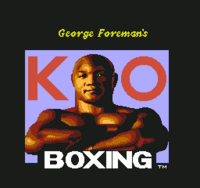 George Foreman's KO Boxing título NES