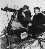 Norwegian Army Colt heavy machine gun at the Narvik front