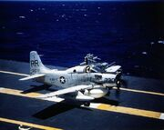 AD-5W on deck USS Kearsarge 1957-58