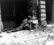 GI machine gun crew in Aachen (Correct orientation)