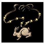 Wooden Rabbit Amulet