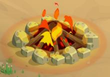Limestone fire lit