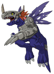 Metalgreymon virus render