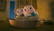 Hansel and Gretel Acting innocent