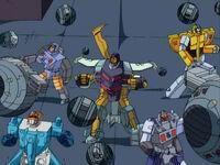 Cyclonus and Decepticons with Dead End Drones.
