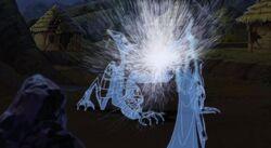 The Shadow King dissolves