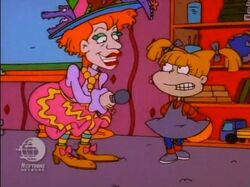 Angelica talking to Mrs.Carol