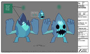 Ice Monster Model Sheet