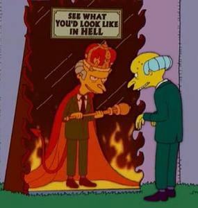 Mr. burns devil