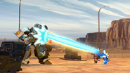 Swelter and Glacius firing on Optimus