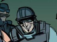 Greg's evil grin.