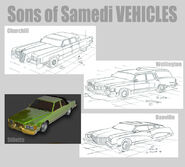 The Sons of Samedi Vehicles Concept Art