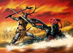 Battle of the Trident Robert Rhaegar by Mike S Miller