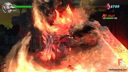 Burning fire boss