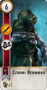 Tw3 gwent card face Crone Brewess