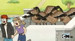 Regular show-a bunch of full grown geese 0016