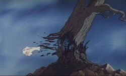 Chirin breaking a tree