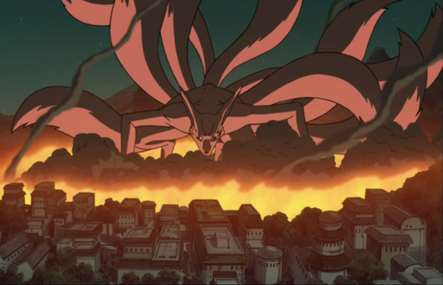 File:1000px-Konoha's destruction by Kyuubi.png