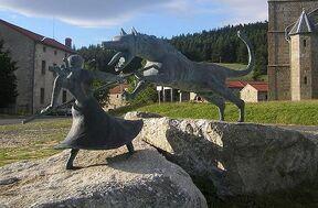 Statue de la bête