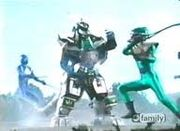 Green Mutant vs Dragon Zord