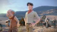 Professor and Max Mordon supervising the digging in the desert