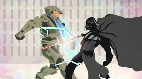 Halo vs Starwars (Master Chief takes on Darth Vader) flash animation by Rory jas