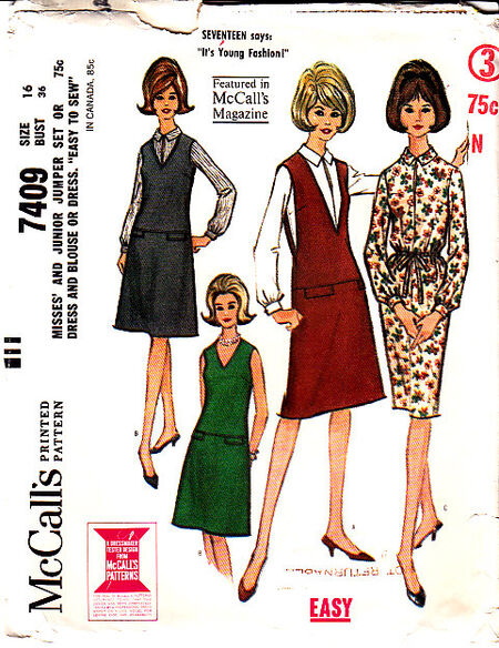 McCall's 7409 1964 image