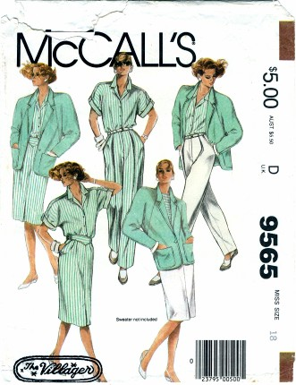 McCalls 1985 9565 F Size 18