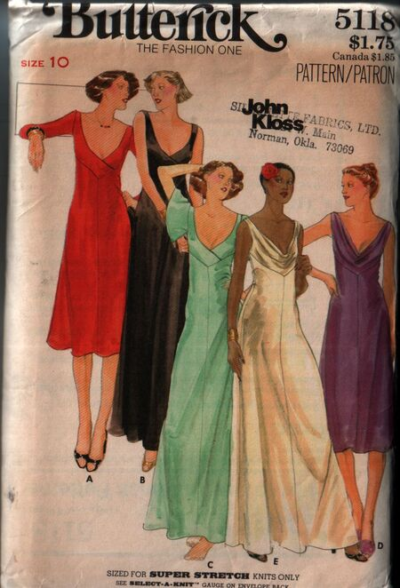 Butterick 5118 front
