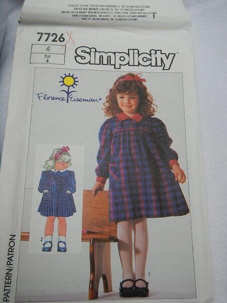 Simplicity 7726 Girls Dress