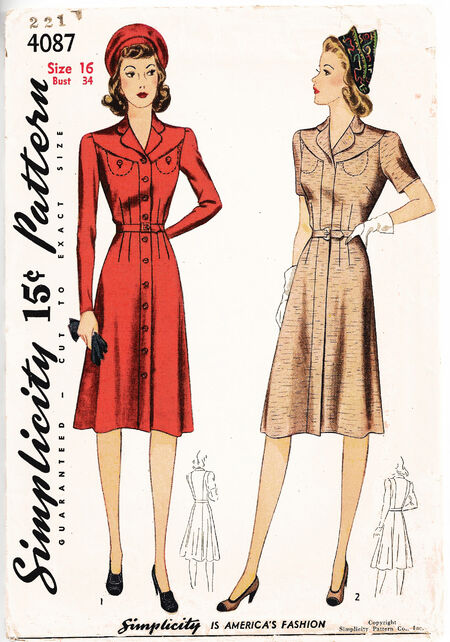 1942 Yoked Dress cropped