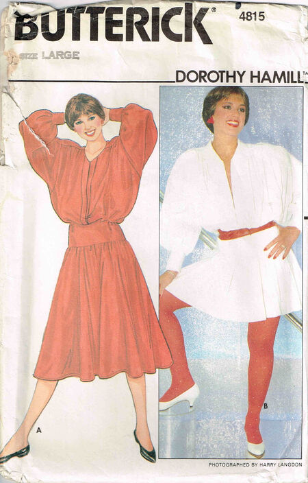 C1980s 4815 Butterick Dorothy hamill large