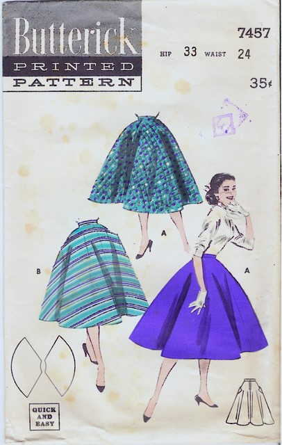 1950's Butterick 7457 front