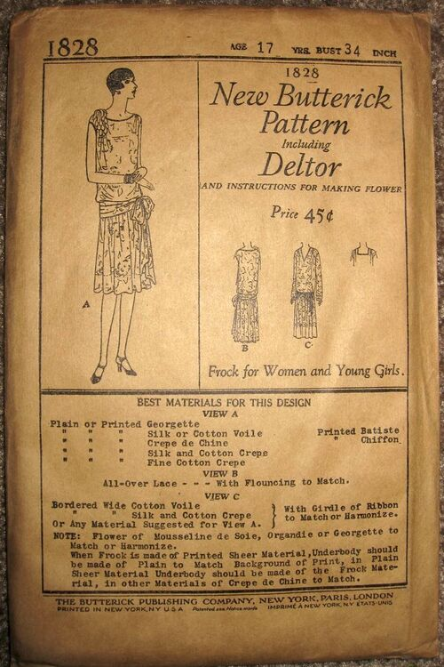 Butterick 1828 front