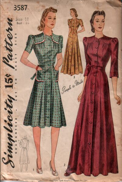 Simplicity 3587 front