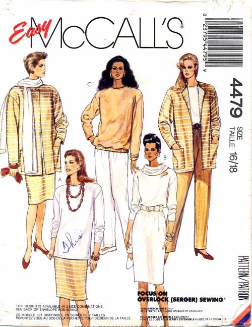 McCalls 1989 4479