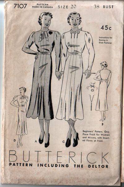 Butterick 7107 front