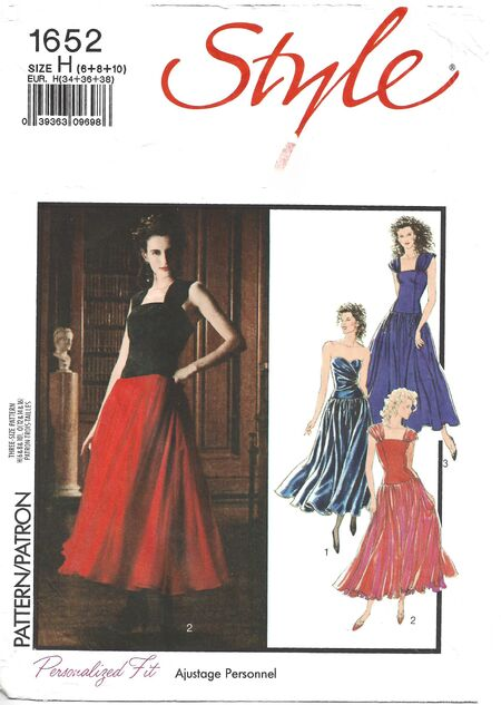 1988 Style dress cropped