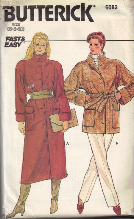C1980s 6082 Butterick Coat