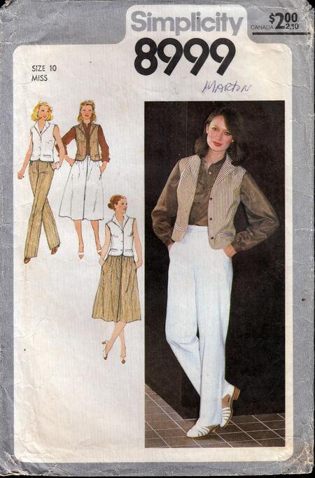 Penelope Rose vintage sewing pattern 1970s skirt, pants, vest at Artfire