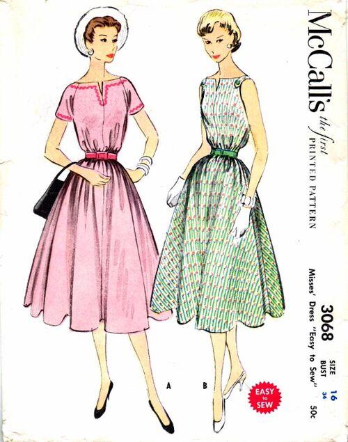 McCalls 1954 3068