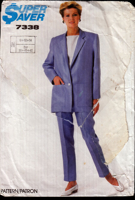Vintage sewing pattern 1980s easy to sew top, jacket, pants Penelope Rose at Artfire