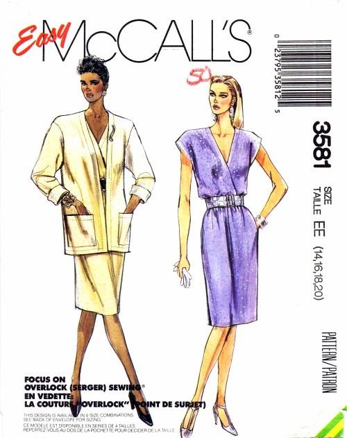 McCalls 1988 3581