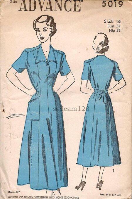 Advance 5019 - Tailored Dress (b)