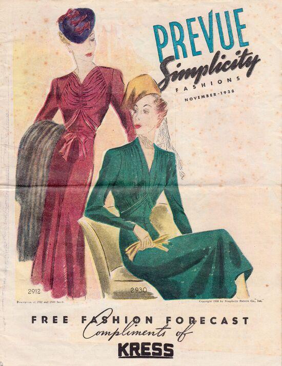 Simplicity Prevue November, 1938
