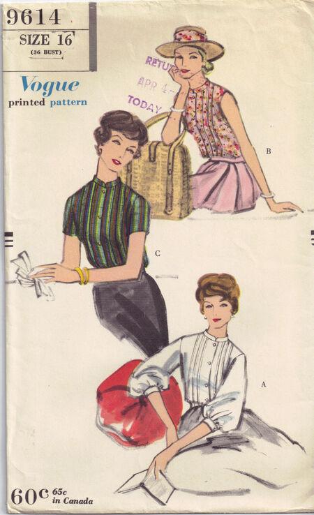 C1958 9614 Vogue Blouse