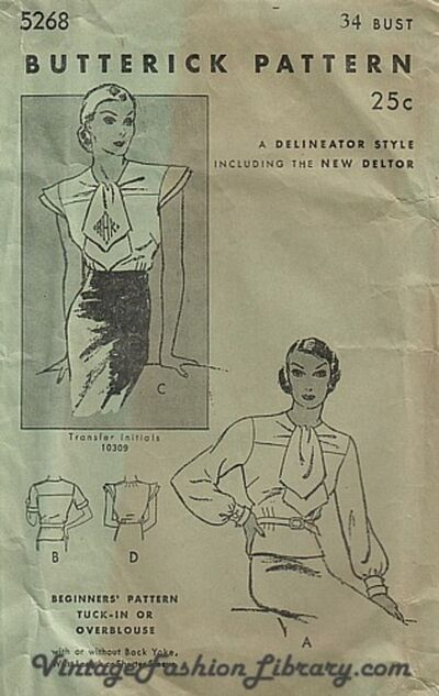 Butterick 5268 cover