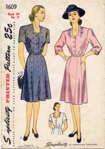 Simplicity 1945 1609
