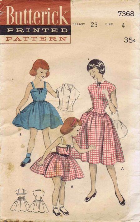 Butterick 1955 7368